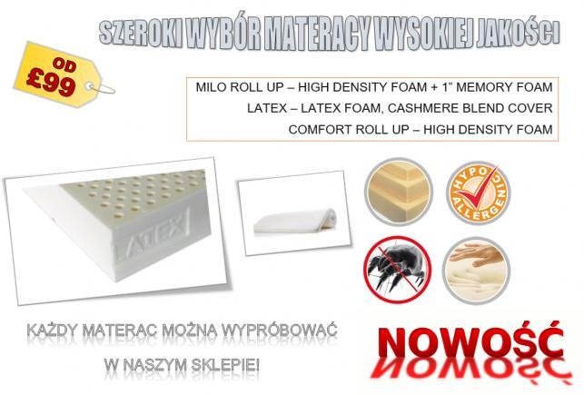 Wysokiej jakości komfortowe materace,tanio