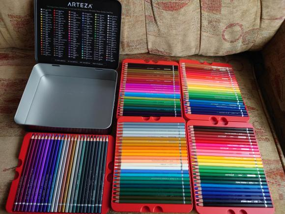 ARTEZA - Kredki 120 różnych kolorów