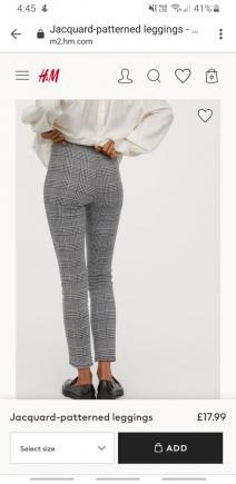 Jacquard-patterned leggings